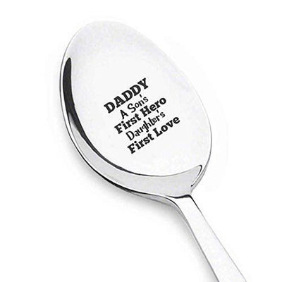 Best Gifts For Dads Birthday Daddy A Sons First Hero A Daughters First Love Spoon Fathers Birthday Gift Best Gifts For Dads Birthday Dad Christmas Gifts From Daughter, Son #SP5 - BOSTON CREATIVE COMPANY