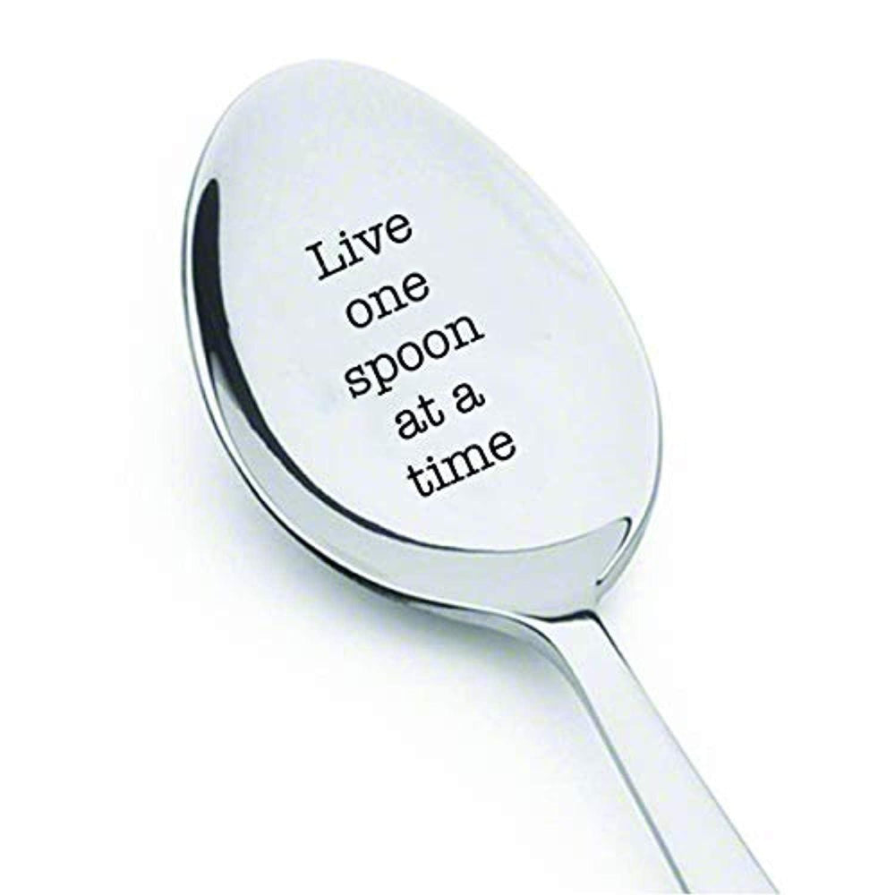 Live one spoon at a time - engraved spoon - Spoonie Gift - Spoon Theory - invisible illness - chronic pain - rustic spoon - inspirational quote - Encouragement gifts - best friends gifts - mom gifts