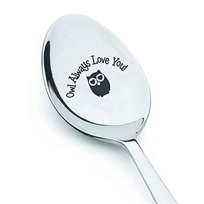 Owl gifts for women| Funny friends gifts for Friendship day/Christmas/Birthday | Gifts for sister from sister/brother| Owl always love you engraved Spoon | Valentines day gift for wife/girlfriend