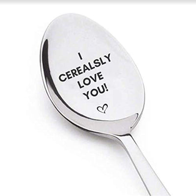 I Cerealsly Love You Spoon Mothers Fathers Valentines Day Wedding Anniversary Boyfriend Girlfriend Birthday Gifts/Stainless Steel Spoon For Your Loved Ones During Their Special Day/A Perfect Gift