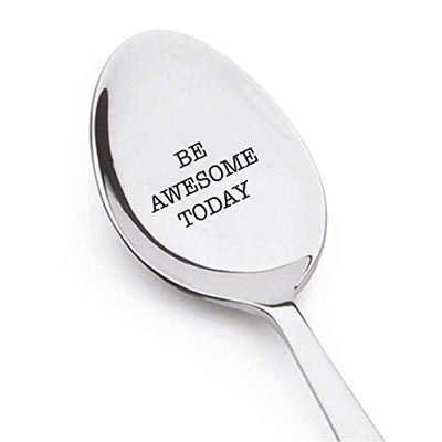 Be Awesome Engraved Spoon Gift For Best Friends