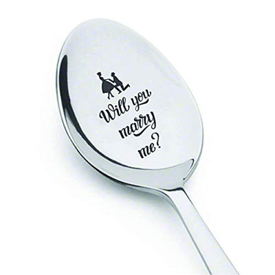 Will you marry me | Proposal gift for boyfriend/Girlfriend | Love gift for men/women | Engraved spoon gift | Engagement wedding proposal gift ideas for lovers | Funny marriage proposal gifts
