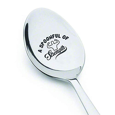 A Spoonful of Strength Best Inspirational engraved spoon Gift For Friends-Motivational Spoon Theory Encouragement Recovery Chronic Pain Sufferers gift