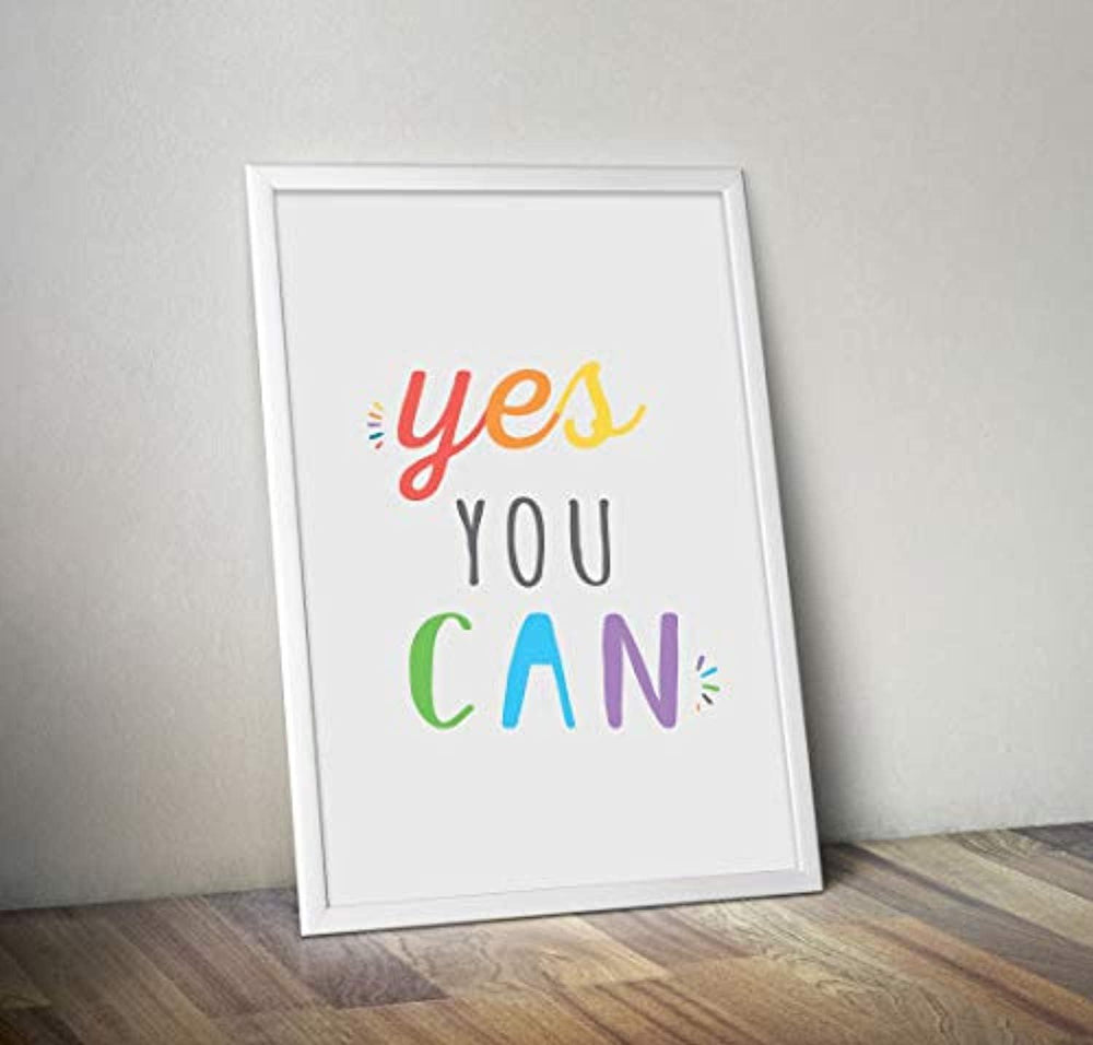 Yes You Can Poster| Inspirational Encouraging Gifts |Office Wall Hanging Decor