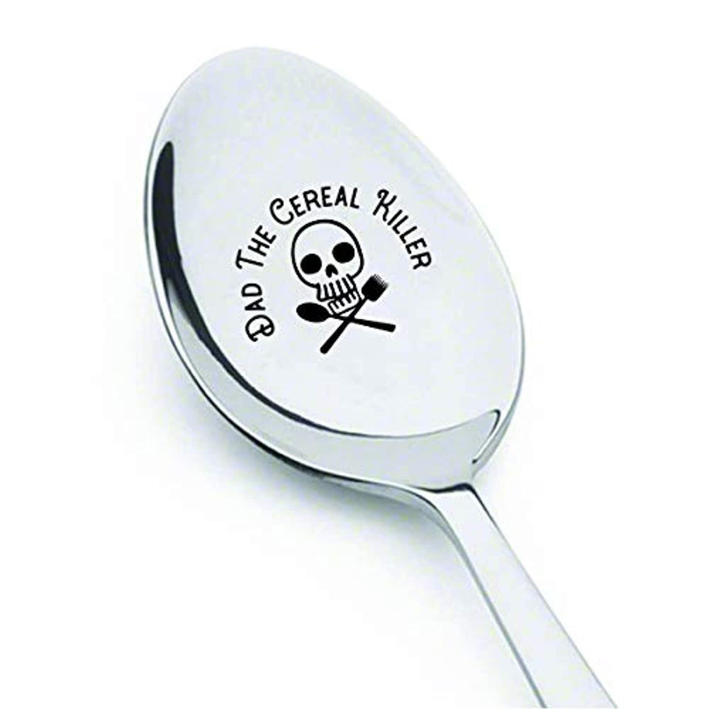 Funny Dad Engraved Spoon Gift From Daughter Son