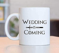 Ideas from Boston- Game of thrones winter is coming mugs, Ceramic coffee Mugs WEDDING IS COMING, GOT Gifts, Game of throne party decoration, Best Coffee Mugs.