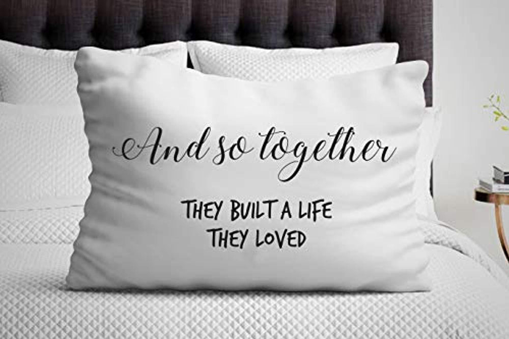 And So Together They Built A Life They Loved Pillow Cover |Decorative Pillow Cases |Couples gifts