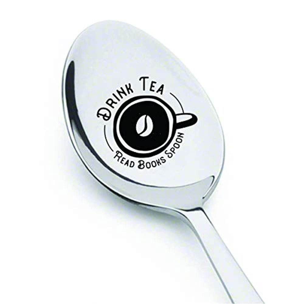 Drink Tea Read Books Be Happy-Funny Graduation/Christmas Spoon Gift for Student