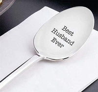 Best Husband Ever Gifts from Wife for Birthday Wedding Anniversary Engagement Valentines Day Special Unique Gift For Hubby -Engraved Stainless Steel spoon 7 inches