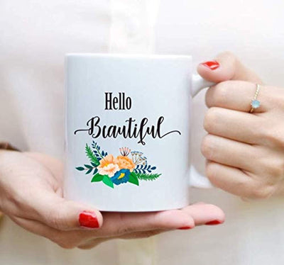 HELLO BEAUTIFUL Coffee Mugs | Beautiful Coffee Mug  | Gift For Friends | Couple Gifts | Ceramic Coffee Mugs
