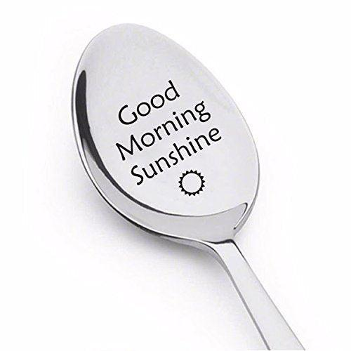 Good Morning Sunshine Spoon - Engraved Coffee spoon - BOSTON CREATIVE COMPANY