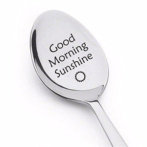 Good Morning Sunshine Spoon - Engraved Coffee spoon - Silverware Spoon-Christmas Present Ideas By Boston Creative company LLC - BOSTON CREATIVE COMPANY