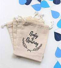 cotton muslin favor bags| A Baby is Brewing |baptism Baby Shower favor bag