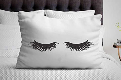 Eyelash pillow case set - Girlfriend Gifts - Sleeping Eyelashes - Bedroom Decor - Pillowcase For Her - 30X19.7 Inches - Single Pillowcase
