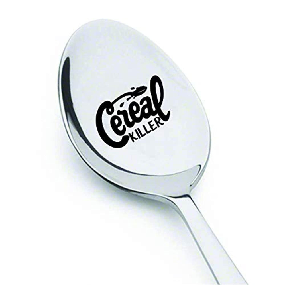 Stocking Stuffers Cereal Lover Spoon for Teens-Funny Cereal Killer Christmas Gift for Him