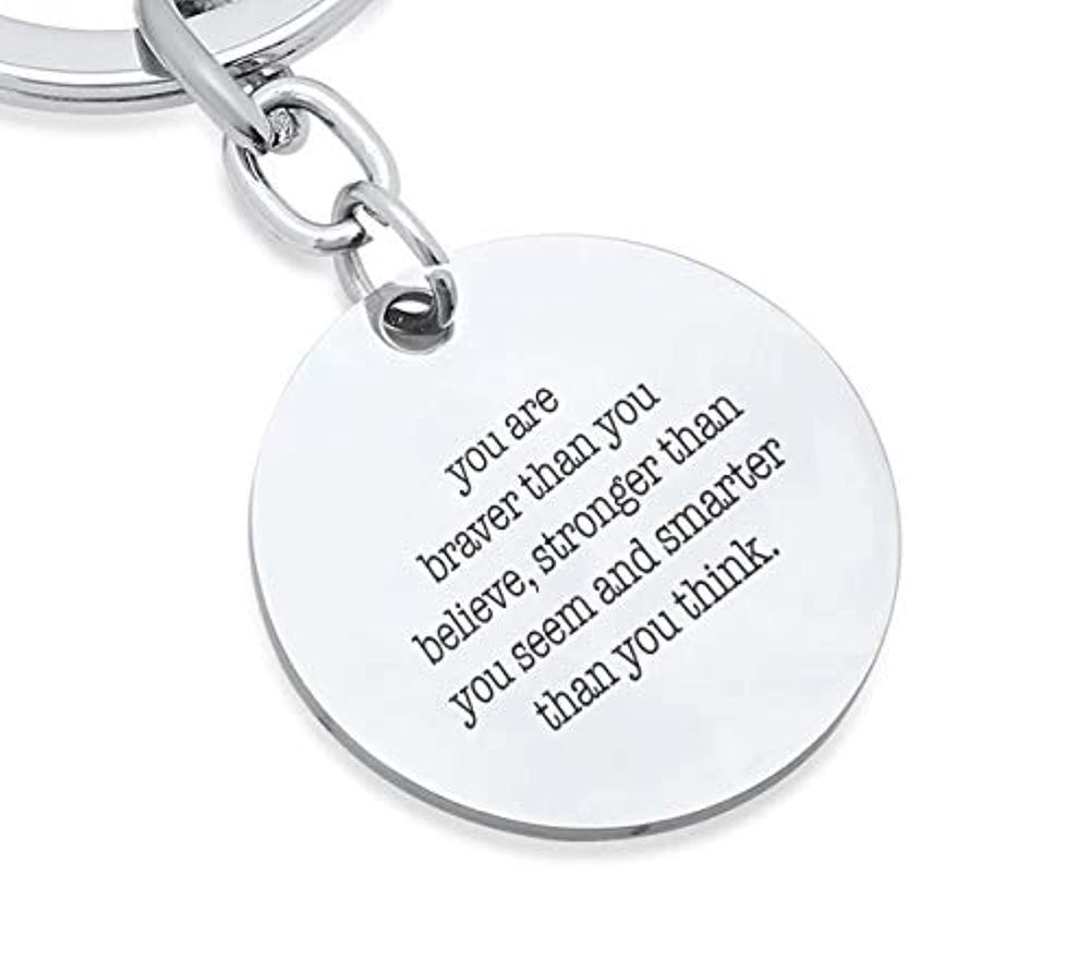 Always Remember Jewelry Keychain-Pendant Key Chain Ring Gift for Men Women