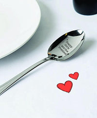 Happy Girls Are The Prettiest Engraved Spoon for Women