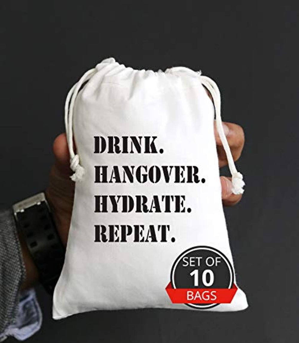 Funny Bachelorette Party Favor Bag - Hangover Survival kit