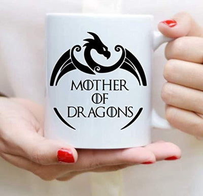 Ideas from Boston- Game of thrones mugs, Ceramic coffee Mugs MOTHER OF DRAGONS, GOT Gifts, Game of throne party decoration, Best Coffee Mugs.