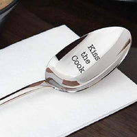 Kiss the Cook engraved spoon gift for wife Gift for her Witty gifts Christmas