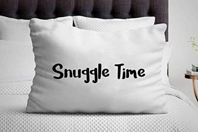 Snuggle Time Pillow Cover Gifts for Engagement| Wedding | Valentine's Day