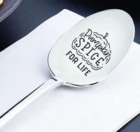 Thanksgiving gift | Halloween gifts for men/women | Gift for dad/mom/Friend |Funny coworker gift | Funny gift for birthday/Christmas| Pumpkin spice for life engraved spoon gift | Teenager gift