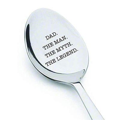 Dad The Man The Myth The Legend Engraved Stainless Steel Spoon Gift For Dad On Birthday Special Occasions