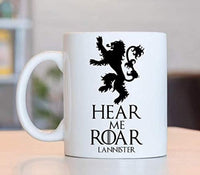 Ideas from Boston- Game of thrones mugs, Ceramic coffee Mugs HEAR ME ROAR LANNISTER, GOT Gifts, Game of throne party decoration, Best Coffee Mugs.