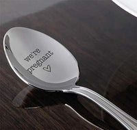 We're Pregnant Spoon Gift For Surprise Pregnancy Announcement