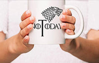 Ideas from Boston- Game of thrones mugs, Ceramic coffee Mugs NOT TODAY, GOT Gifts, Game of throne party decoration, Best Coffee Mugs.