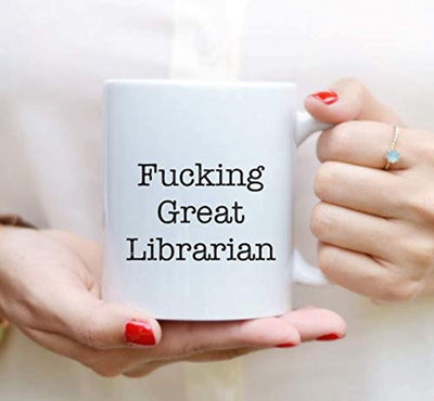 Ideas from Boston- FUCKING GREAT LIBRARIAN, Best Librarian, Gift For Librarian, Funny proposals, Mugs for Lib, Ceramic coffee mugs Librarian, Librarian cups