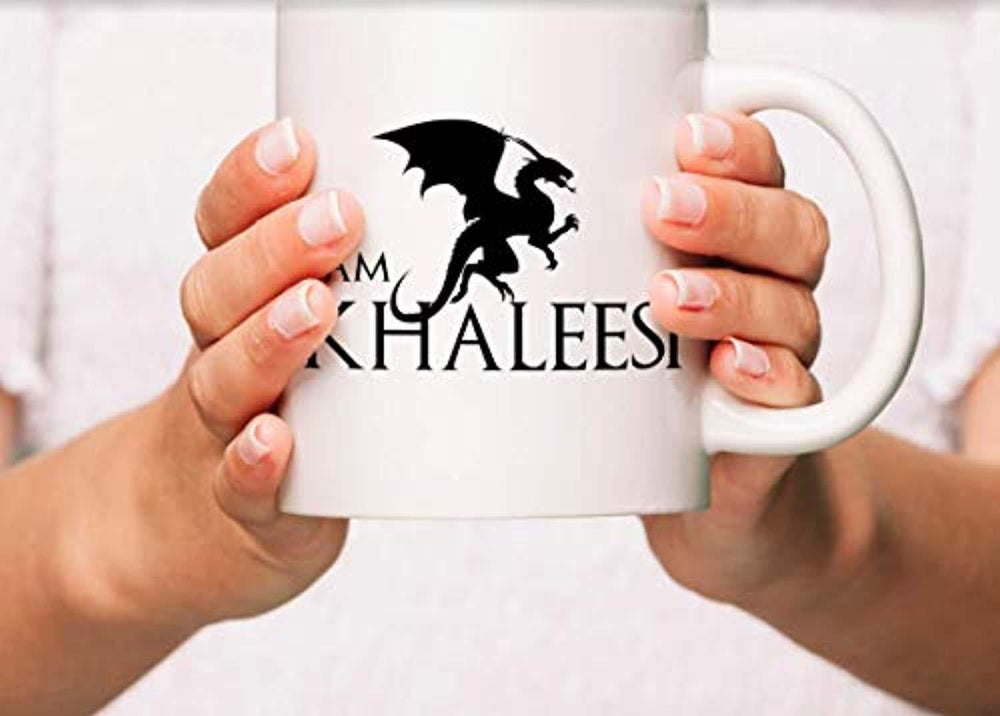 I am Khaleesi Coffee Mugs | Game of Thrones Mugs | GOT Lovers Gift Ideas | Long lasting Ceramic Coffee Mugs