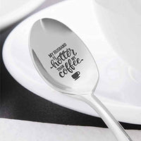 My Husband Coffee Spoon-Funny Spoon Gift for Husband  Unusal 15thAnniversary Gifts