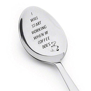 My Coffee Does - Coffee Spoon - Stainless Steel Coffee Spoon - Tablespoon - BOSTON CREATIVE COMPANY