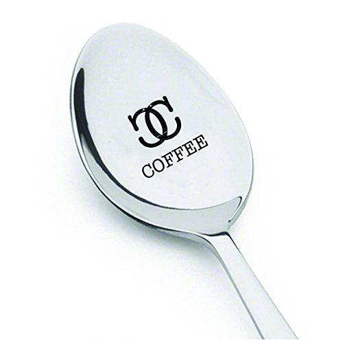 Coffee Spoon - Unique Gift - Coffee Lover - Keepsake coffee spoon - engraved Spoon - BOSTON CREATIVE COMPANY