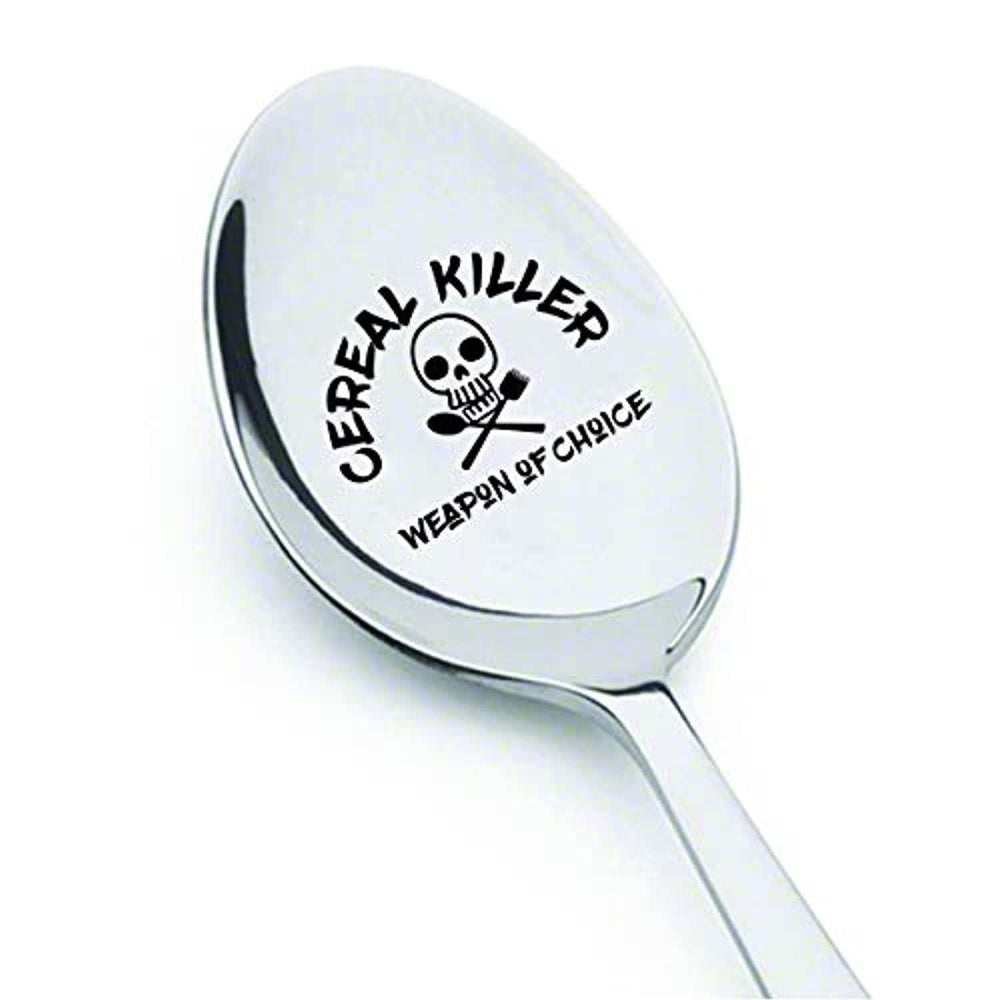 Cereal Killer Weapon of Choice Spoon Gifts for Kids Men Women