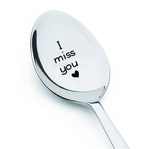 I Miss You Spoon-Long Distance Gift-Lover Gift- Gift For Mom Dad Husband Wife-Engraved Spoon - BOSTON CREATIVE COMPANY