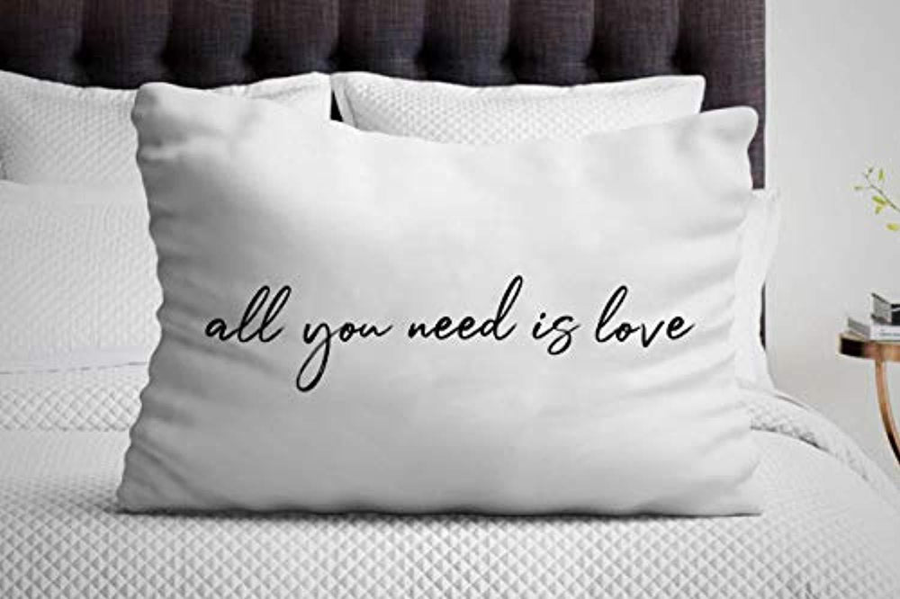 All You Need is Love Pillow Cover| Valentine Romantic Gifts | Couple Gift Ideas