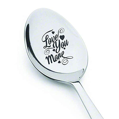 Husband gift | Christmas gifts for a husband | Gifts for first anniversary | Couple gift | Valentines day gift for boyfriend/girlfriend | Love you more engraved spoon gift | Gifts on wife birthday