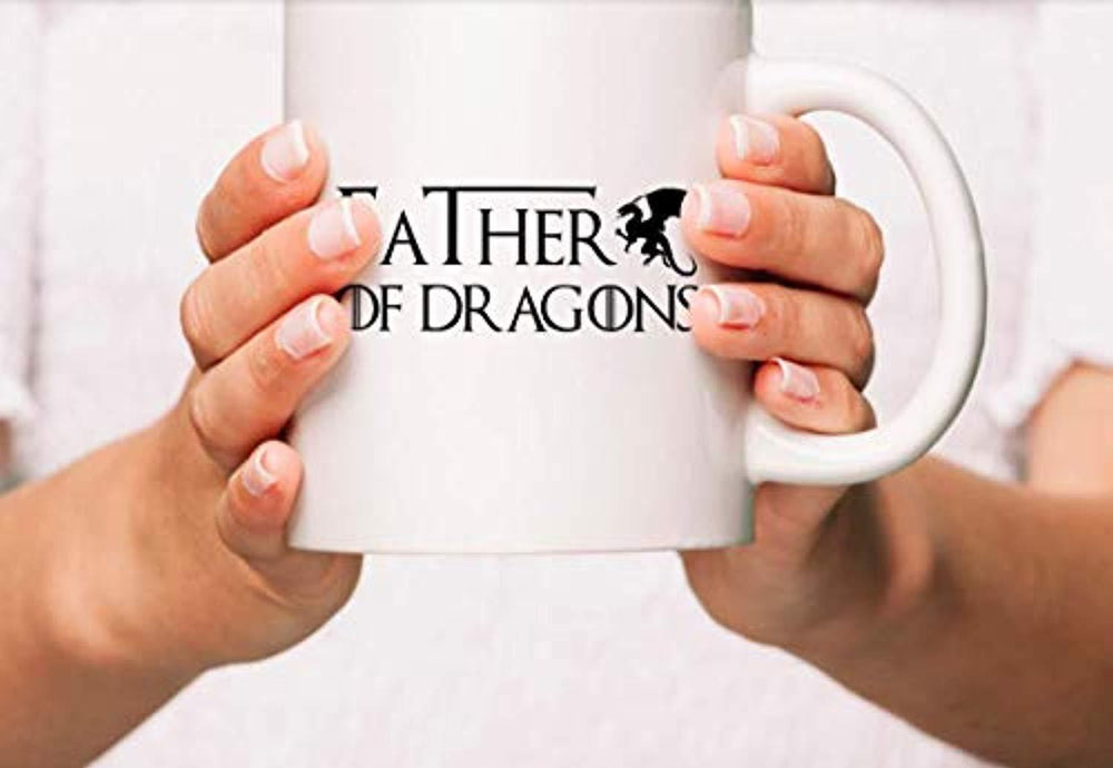 Father Of Dragons Coffee Mugs | Game of Thrones Lovers Gift Cups | Funny Gifts to Friends |  Ceramic Coffee Mugs To Fathers