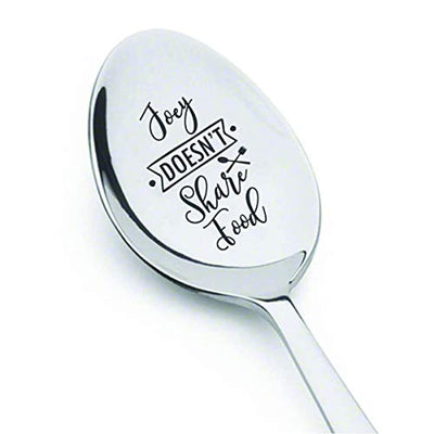 Funny Friend gift | Joey Doesn't share food | Best friend funny Christmas gift for boy/girl | Unique engraved spoon gift | BFF gift | Best friend forever | Brother sister gift memory gift