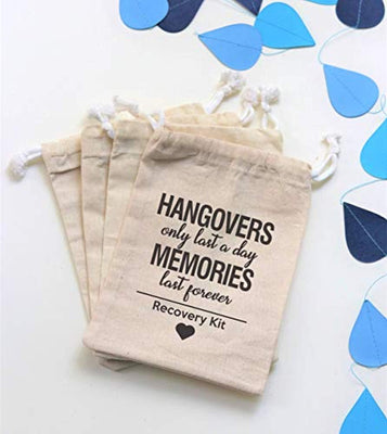 Funny Bachelorette Party Hangover Kit Favor Bags
