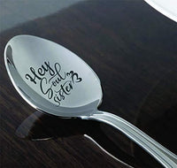 Sisters gifts| Christmas gift from sister/brother| Sister in law gifts| Long distance sister gift Hey soul sister engraved spoon gift for birthday/Easter| Siblings Day Best friends big Little sisters
