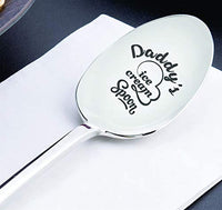 Dads ice cream spoon | Fathers day gift | Papa funny Christmas gift from daughter son | Dad gift for Thanksgiving/birthday|Daddy's ice cream spoon personalized engraved spoon | Ice cream lover gift
