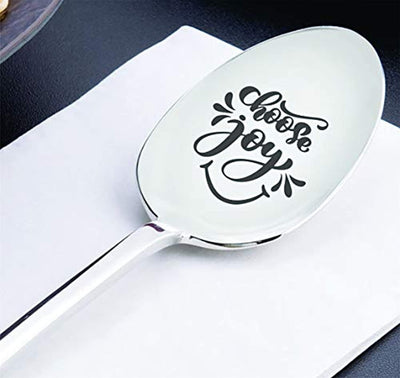 Inspirational holiday gift boy/girl | Unique Christmas gift from grandparents | Engraved young men gift | Son daughter birthday gift | Encouraging teenager gift ideas | Choose joy Spoon