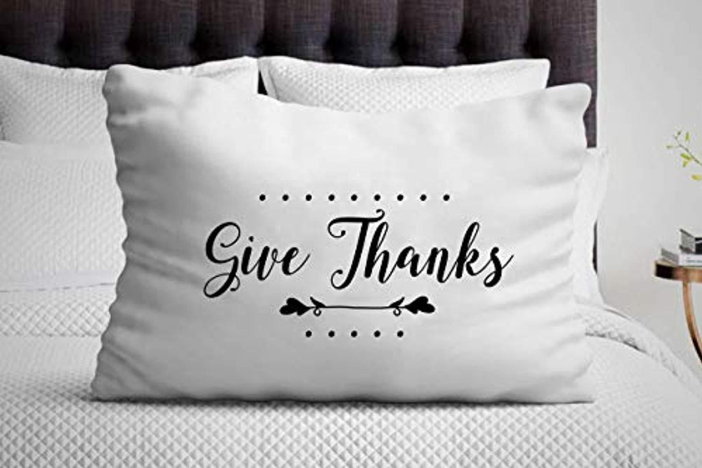 Give Thanks Pillow Cover | Thanksgiving Gift Idea | Best Present On Christmas