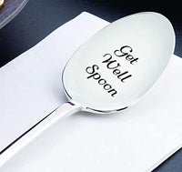 Get Well Engraved Stainless Steel Motivational Spoons For Patients Chronic Pain Sufferers Best Friends Loved Ones