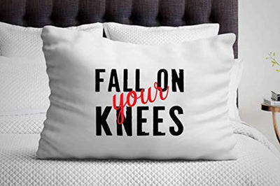 Fall On Your Knees Pillow Cover Anniversary gifts
