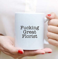 Engraved Best Gift for Florist, Funny Proposals Coffee Mugs for Birthday Party