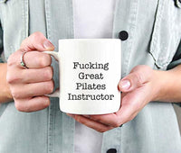 Ideas from Boston- FUCKING GREAT PILATES INSTRUCTOR, Best PI, Gift For Pilates intructor, Funny proposals, Mugs for Pilates intructor, Ceramic coffee mugs Pilates intructor, Pilates intructor cups